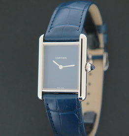 Cartier Tank Must Large Blue Dial WSTA0055 NEW