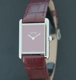 Cartier Tank Must Large Burgundy Dial WSTA0054 NEW