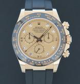 Rolex  Rolex Daytona Yellow Gold Champagne Diamond Dial NEW 116518LN