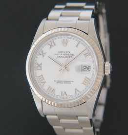 Rolex  Datejust White Roman Dial 16234