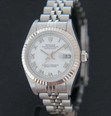 Rolex  Datejust Lady White Roman Dial 79174