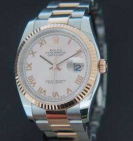 Rolex  Datejust Everosegold/Steel Pink Roman Dial 116231