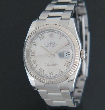 Rolex  Datejust Rhodium Dial 116234