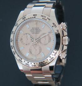 Rolex  Daytona Everose 116505 Sundust Baguette Dial