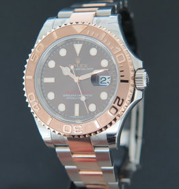 Rolex  Yacht-Master Everose/Steel Chocolate Dial 116621 FULL STICKERS