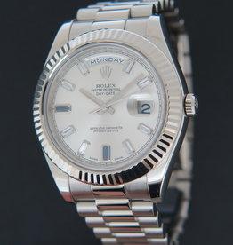 Rolex  Day-Date II White Gold Diamond Sapphire Dial 218239