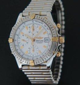 Breitling Chronomat White Dial B13352  Gold/Steel