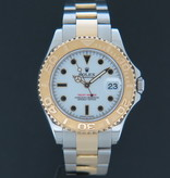 Rolex  Rolex Yacht-Master Midsize Gold / Steel 168623 White Dial