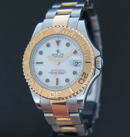 Rolex  Yacht-Master Midsize Gold / Steel 168623 White Dial
