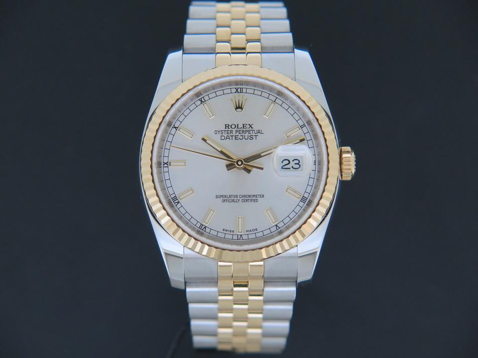 Rolex  Rolex Datejust Gold/Steel Silver Dial 116233
