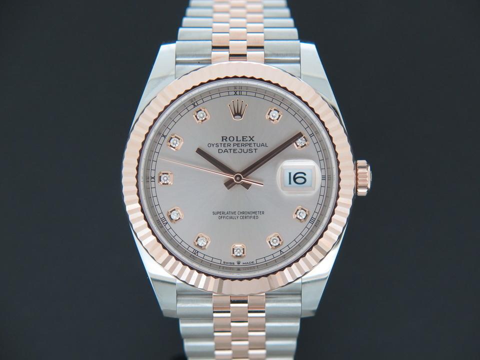 Rolex  Rolex Datejust 41 Everose/Steel Sundust Diamond Dial NEW 126331