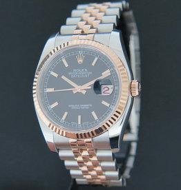 Rolex  Datejust Everose/Steel Black Dial 116231