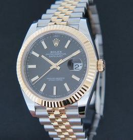 Rolex  Datejust 41 Gold/Steel Black Dial 126333 NEW