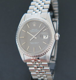 Rolex  Datejust 1603 Grey Dial Punched Papers
