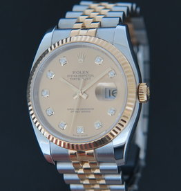 Rolex  Datejust Gold/Steel Champagne Diamond Dial 116233