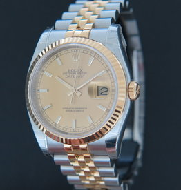 Rolex  Datejust Gold/Steel Champagne Dial 116233