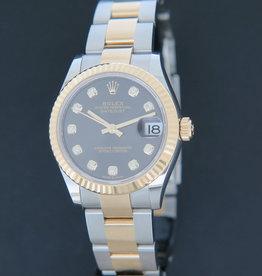 Rolex  Datejust 31 Gold/Steel Dark Grey Diamond Dial 278273