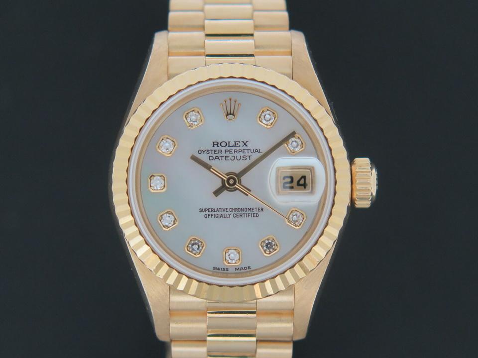 Rolex  Rolex Datejust Lady Yellow Gold MOP Diamond Dial 79178
