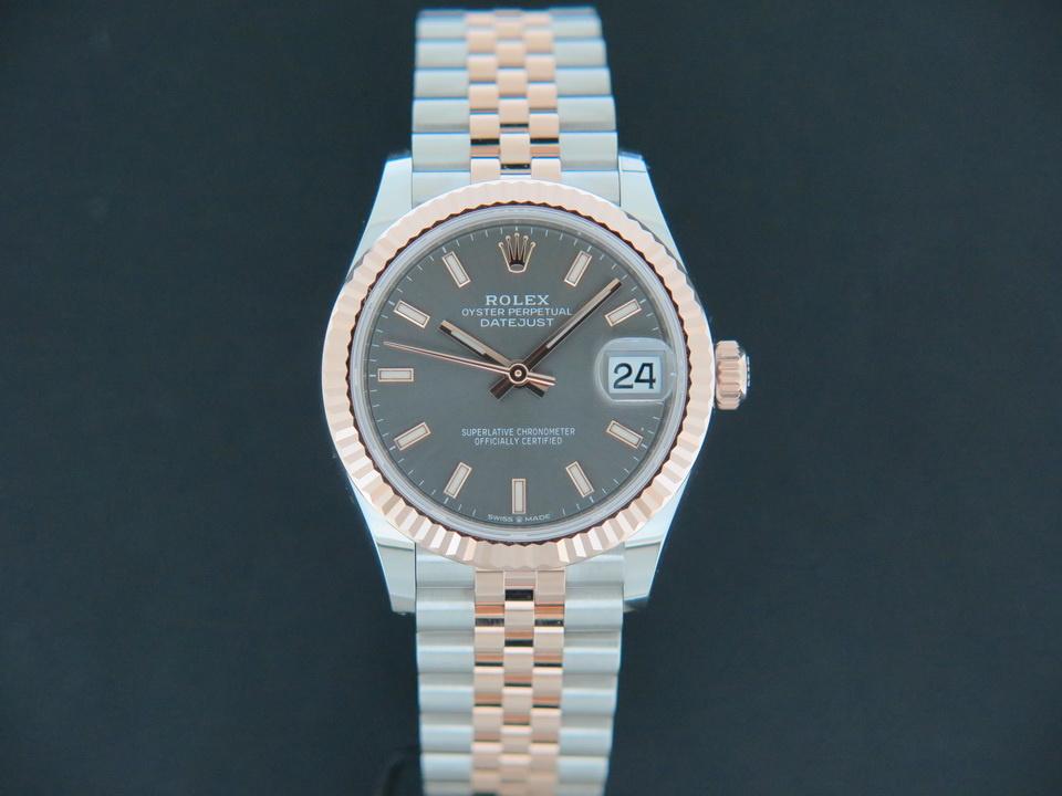 Rolex  Rolex Datejust 31 Everosegold/Steel Slate Dial NEW 278271