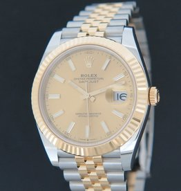 Rolex  Datejust 41 Gold/Steel Champagne Dial 126333 NEW
