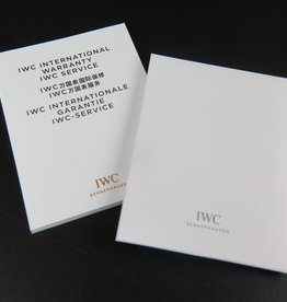 IWC Warranty Booklet & Cleaning Cloth