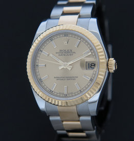 Rolex  Datejust 31 Gold/Steel Champagne Dial  178273