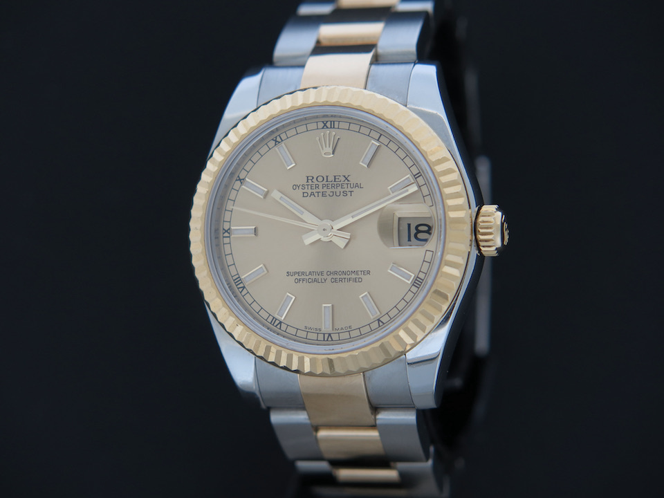 Rolex  Rolex Datejust 31 Gold/Steel Champagne Dial  178273