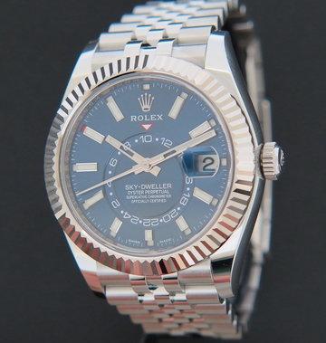 Rolex  Sky-Dweller Blue Dial Jubilee 326934 NEW