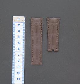 Rolex  Krokodillen lederen band 21mm brown NEW