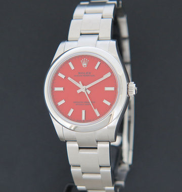 Rolex  Oyster Perpetual 31 Coral Red Dial 277200 NEW