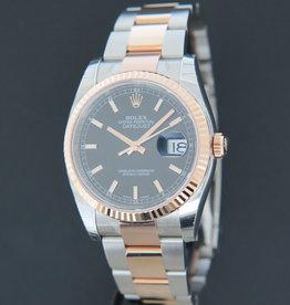 Rolex  Datejust Everose/Steel Black Dial 116231 NEW