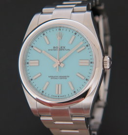 Rolex  Oyster Perpetual 41 Turquoise Dial 124300 NEW