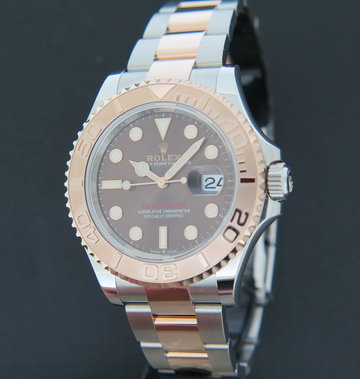 Rolex  Yacht-Master Everosegold/Steel Chocolate Dial 126621 NEW