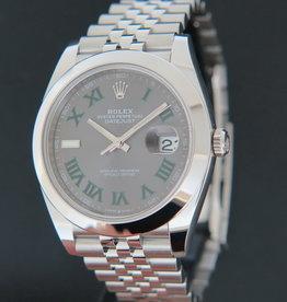 Rolex  Datejust 41 Slate Roman Dial 126300 NEW