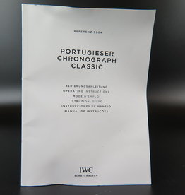 IWC Operating Instructions Portugieser Chronograph