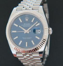 Rolex  Datejust 41 Blue Dial NEW 126334