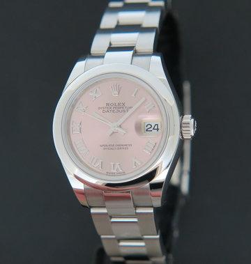 Rolex  Datejust Lady 28 Pink Roman Dial 279160