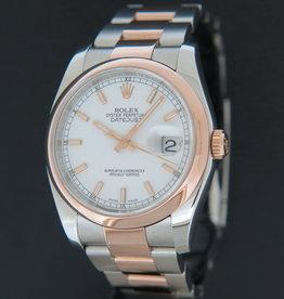 Rolex  Datejust Everose/Steel White Dial 116201