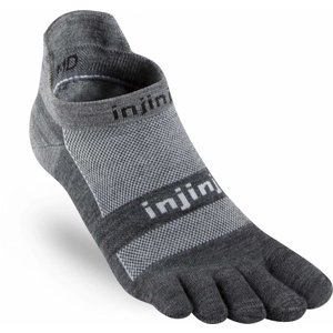 Injinji Run Lightweight No-Show Nuwool Charcoal/Black