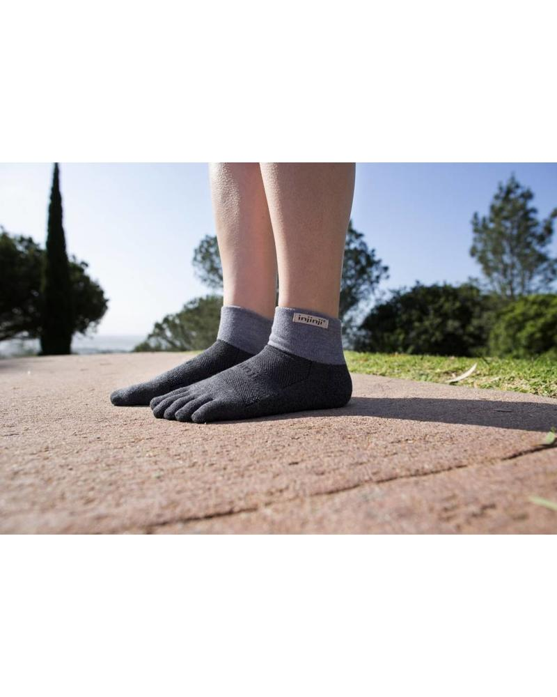 Injinji Trail Midweight Mini-Crew Coolmax Granite