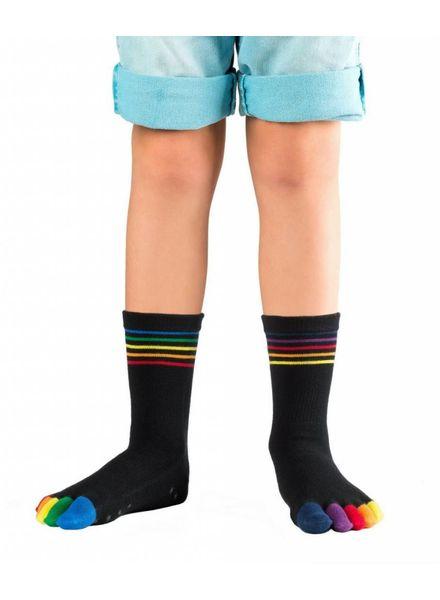 Knitido Rainbow Moods Kids ABS, halfhoog, antislip, katoen