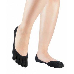 Knitido Silkroad zijden lage sokjes zwart