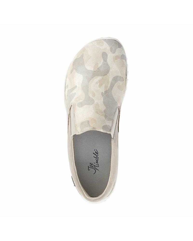 Joe Nimble SALE: mellowToes dames beige/camouflage leer