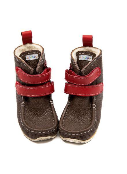 Zeazoo SALE: YETI Bruin met rood klittenband