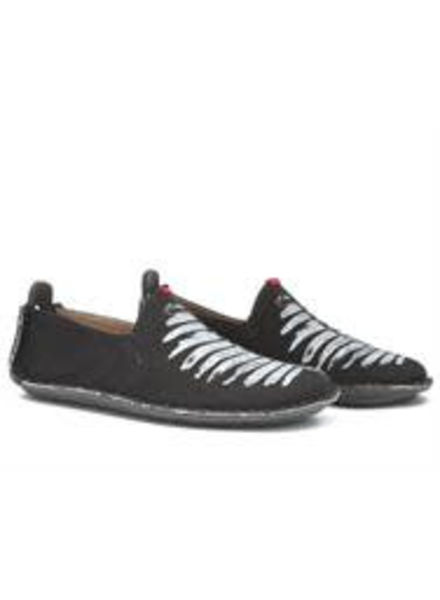 Vivobarefoot Ababa Ladies Canvas Birdie Black