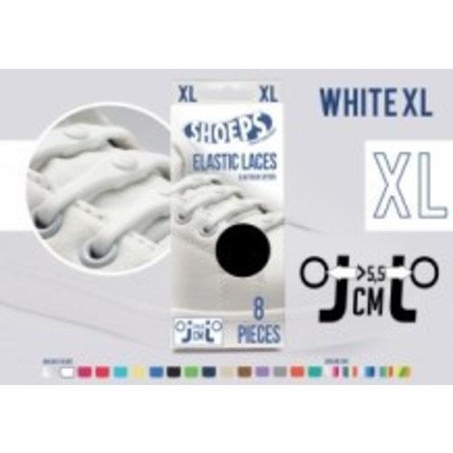 Shoeps Shoeps elastische veters White XL