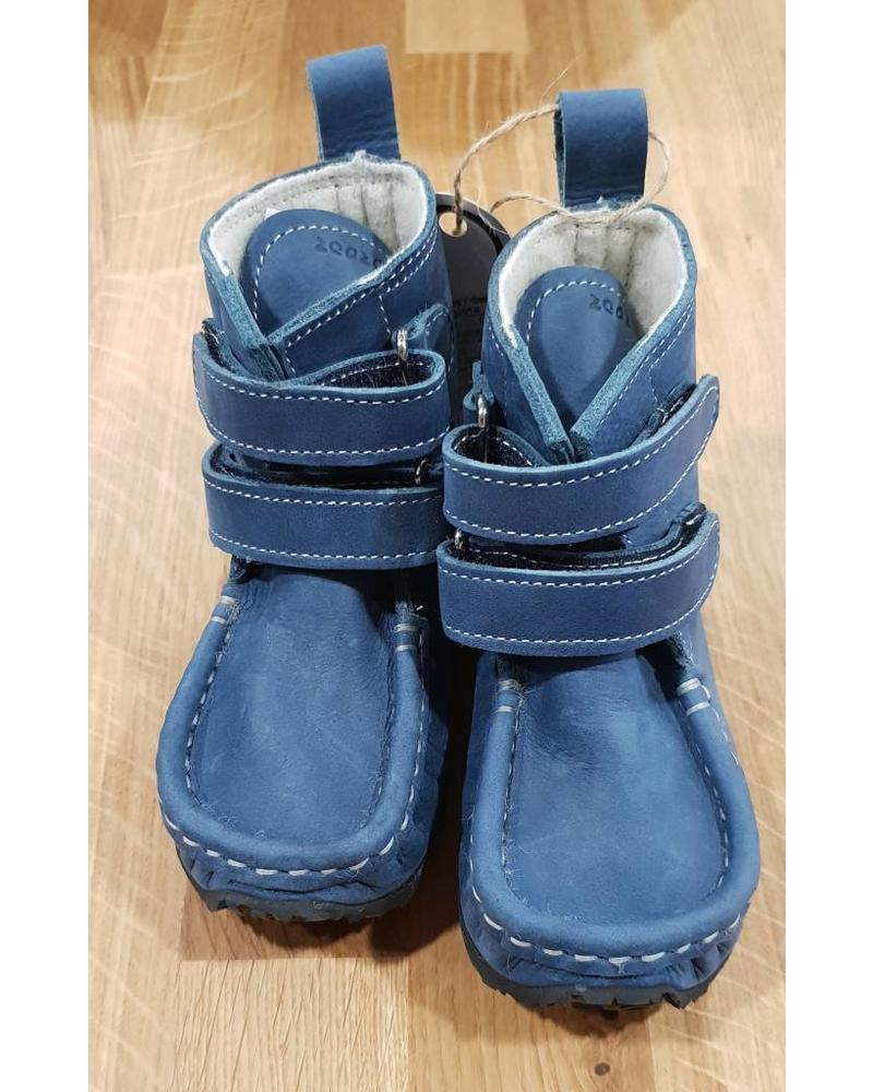Zeazoo YETI Blauw met klittenband (zwarte zool)