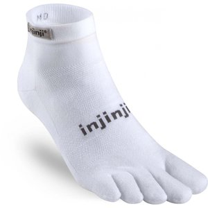 Injinji Run Lightweight Mini-Crew Coolmax White