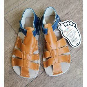 Zeazoo SALE: Sandaal Marlin Blue with Camel