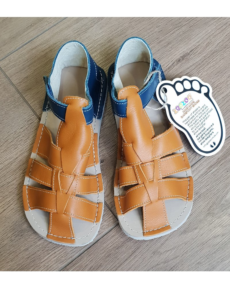 Zeazoo Sandaal Marlin Blue with Camel